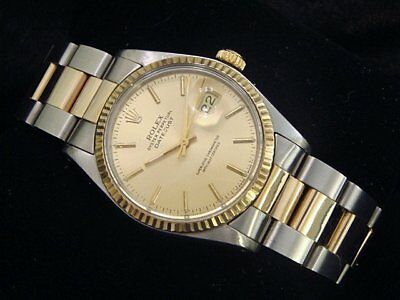 $ CDN5491.43 • Buy Rolex Datejust Mens Two-Tone Stainless Steel & Yellow Gold Champagne 16013
