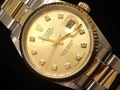 $ CDN6473.35 • Buy Rolex Datejust Mens Two-Tone Yellow Gold & Stainless Steel Champagne Diamond