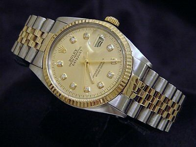 $ CDN5874.56 • Buy Rolex Datejust Mens 2Tone Gold & Stainless Steel Champagne Diamond 16013