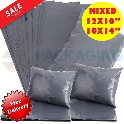 £4.78 • Buy 50 MIXED MAILING BAGS GREY PARCEL PACKAGING 12 X 16 And 10 X 14 Cheapest By Far!