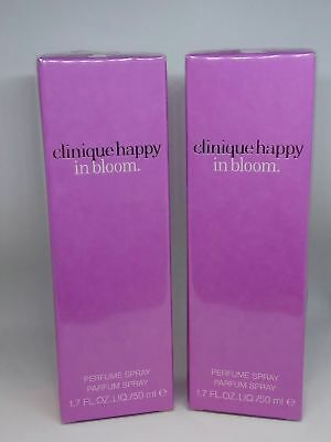 Clinique Happy In Bloom 2017 For Women 2 Pcs Of 1.7oz 50ml EDP NIB Sealed • 86.82£