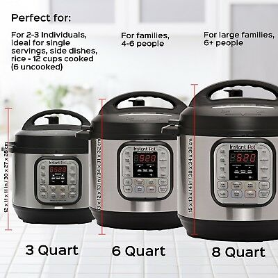 $107.99 • Buy Instant Pot DUO60 6Qt 7-in-1 Multi-Use Programmable Pressure Cooker, Rice Cooker