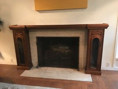 $1000 • Buy Handcrafted Ginger Mahogany Fireplace Mantle Shelf And Surround