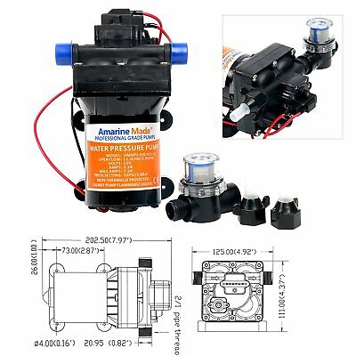 High Quality 12v 42-Series Water Pressure Diaphragm Pump W/ Variable Flow 3.0GPM • 47.84$