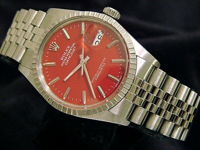 $ CDN6504.89 • Buy Rolex Datejust Mens Stainless Steel Watch Quickset Jubilee Band Red Dial 16030