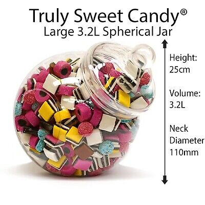 £7.25 • Buy Large Plastic 3200ml Plastic Sweet Jars With Victorian Style Lids Wedding Party