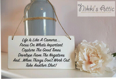 £4.75 • Buy Inspirational Quote Handmade Wooden Plaque, Gift, Home, Sign,