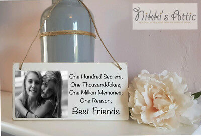 £5.10 • Buy Personalised Plaque, Any Text+Any Photo,Handmade, Gift, Birthday,Friend,BFF