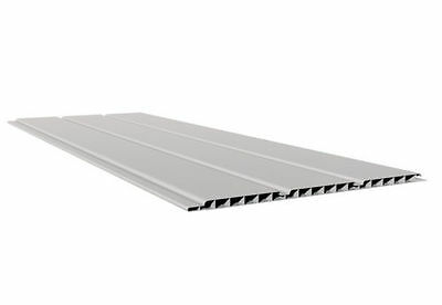 50 X 5m UPVC Hollow Panel Cladding  Soffit Boards + 500  X 30mm White Poly Tops • 435£