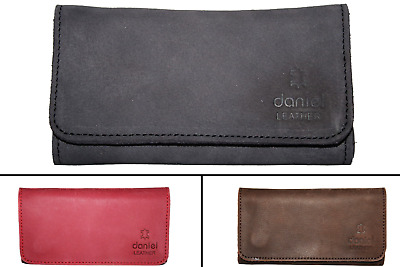 Genuine Real Leather Tobacco Pouch Case With Lining  Black Brown Red Tan • 10.39£