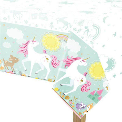 AU5.95 • Buy Magical Unicorn Plastic Tablecover Birthday Party Supplies Tablecloth