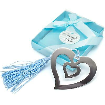 £2.99 • Buy Heart-Shaped Bookmark, Metal, Silver-coloured In Gift Box