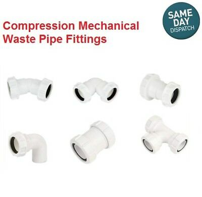 £4.49 • Buy Waste Pipe Fittings - Compression Fittings - EASY TO INSTALL