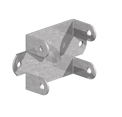 Fence Panel Clips / Trellis Clip Brackets 52mm Easy Fit Galvanised Coated • 10.95£