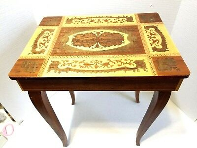Inlaid Wood Table Italy
