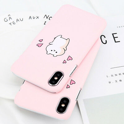 AU3.99 • Buy For IPhone X 8 7 Plus Lovely Cute Cat Pattern PC Hard Back Shockproof Case Cover