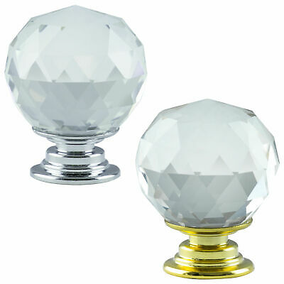 Hausen Crystal Glass Door Handle Kitchen Cupboard Cabinet Drawer Knobs • 6.99£