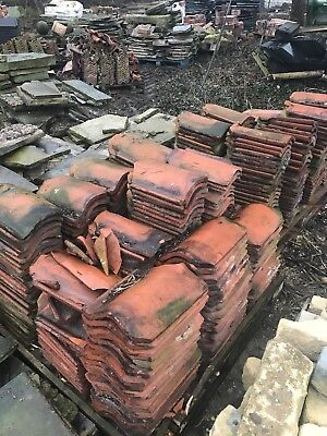 £0.99 • Buy Approximately 500 Reclaimed Red Clay Pantiles And Ridged Capping Tiles