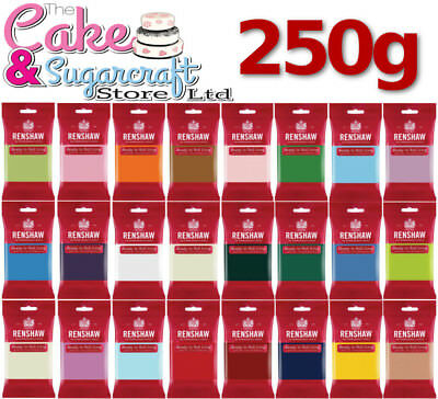Renshaw Ready To Roll Icing 250g - All Colours Free Post • 2.33£