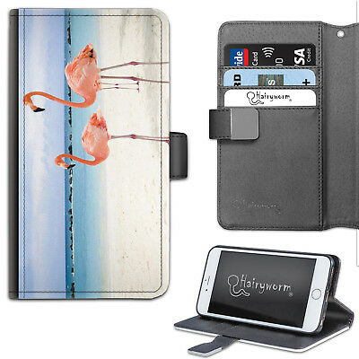 AU21.65 • Buy Pink Flamingo PU Leather Phone Case, Wallet Phone Cover, Flip Case