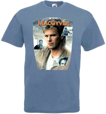 $18 • Buy MacGyver V3 T-shirt Steel Blue Poster All Sizes S...5XL