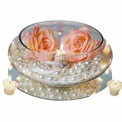 $83.12 • Buy 10 Pcs 10  Wide Floating Candle GLASS HOLDER BOWLS VASES Wedding Centerpieces