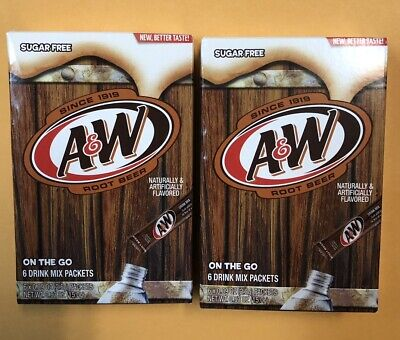 A & W Root Beer Singles To Go! 12 Packs 2 Boxes Sugar Free • 4.86£