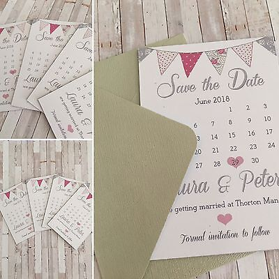 AU9.27 • Buy A Set Of 10 Wedding Save The Date Or Save The NightFridge Magnets With Envelopes