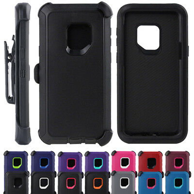 AU12.99 • Buy Hybrid Shockproof Heavy Duty Case Cover + Blet Clip For Samsung Galaxy S9 Plus