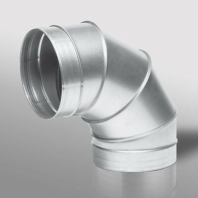 90 Degree Bend Grow Room Ventilation Duct Pipe Fan Ducting Elbow 4 5 6 8 10 12   • 6.99£