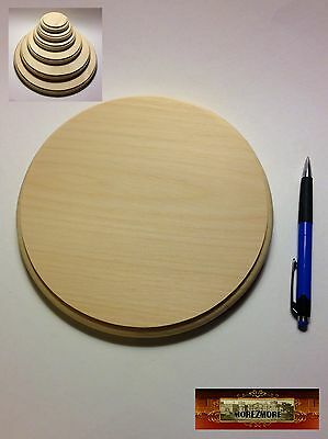 $7.37 • Buy M00974 MOREZMORE 1 Unfinished 8  Round Wood Base Wooden Plaque Stand