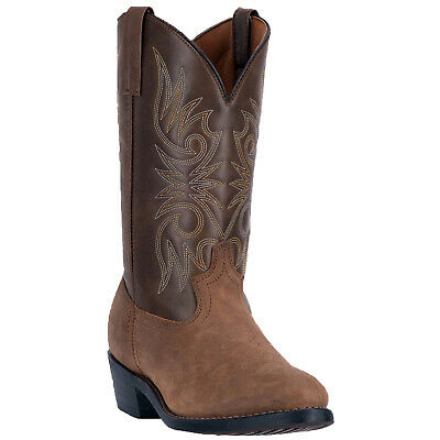 $109.95 • Buy Laredo Mens Western Cowboy Boots Distressed Leather Embroidery Round Toe Tan
