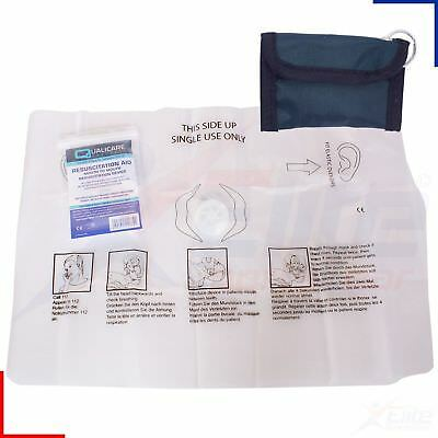 £2.37 • Buy CPR Resuscitation Face Shield In Green First Aid Pouch