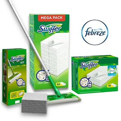 Swiffer Floor Mop Floor Cloths Febreze Cloths Mega Pack Various Selection • 16.66£