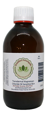 300ml Magnesium Chloride Oil Sensitive Skin Glass With Lavender Essential Oil • 12.95£