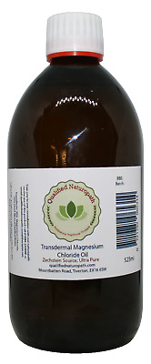 525ml Magnesium Chloride Oil Glass With Tea Tree Essential Oil • 22.95£