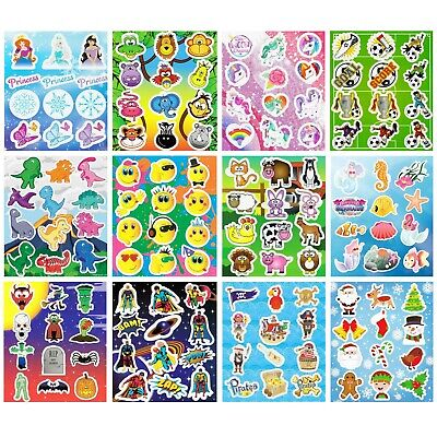 £1.49 • Buy 3 - 48 Sheets Of Kids Stickers - Party Bag Filler - Choose 12 Designs & Quantity