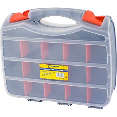 Tool Box Bits 2 Sided Storage Organiser 30 Compartments Case Screws Diy Assorted • 7.95£