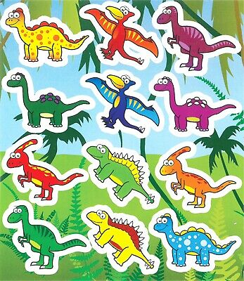 3 - 48 Sheets Of Kids Children's Stickers - Party Fun Bag Filler - DINOSAURS  • 0.99£