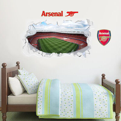 £29.99 • Buy Arsenal Football Club Stadium Rooftop Smashed Wall Mural Sticker Decal Art Gift
