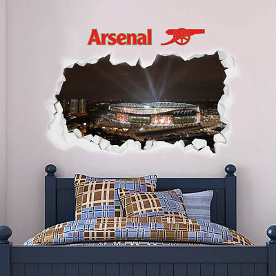 £29.99 • Buy Arsenal Emirates Stadium Outside Lights Smashed Wall Mural Sticker Decal Print