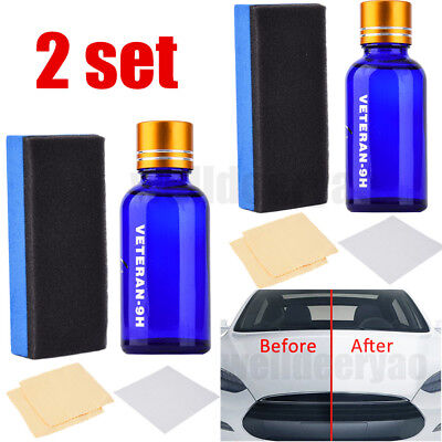 $11.15 • Buy 2X 9H Liquid Ceramic Car Coating Super Hydrophobic Glass Polish Wax Auto Paint