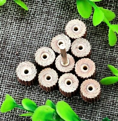 10pcs Flap Wheel Disc Shaft Abrasive Sanding Drill Polish For Dremel Rotary • 5.25£