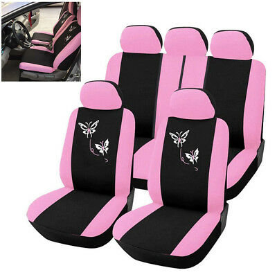 $35.39 • Buy 9pc Universal Car Seat Cover Butterfly Embroidery Women Car Interior Accessories