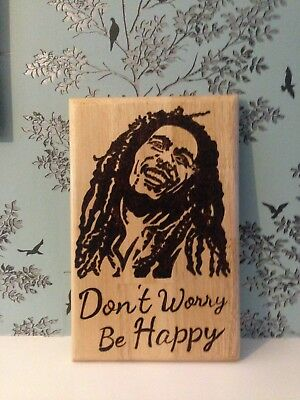 £14.99 • Buy Bob Marley Don't Worry Be Happy Wall Decor/plaque Rolling Board Etc 305x195x20