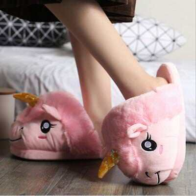 AU25 • Buy Unicorn Adult Character Pink Lady Winter Slippers - One Size 28cm