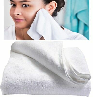 £3.59 • Buy WHITE MICROFIBRE FACE CLOTH Super Absorbent Soft Lightweight Make Up Remover