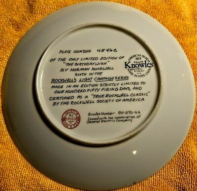 $ CDN60 • Buy Knowles Norman Rockwell Collector Plates  Rockwell's