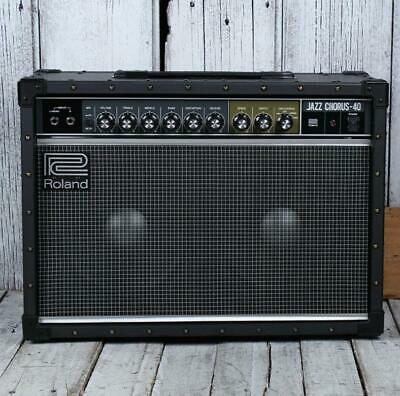 AU776.61 • Buy Roland JC-40 Jazz Chorus Electric Guitar Amplifier 40 Watt 2 X 10 Combo Amp W FX
