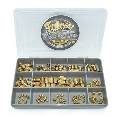 $22.08 • Buy 140 Assorted M3 M4 M5 M6 Threaded Press Fit Solid Brass Insert For Plastic Kit